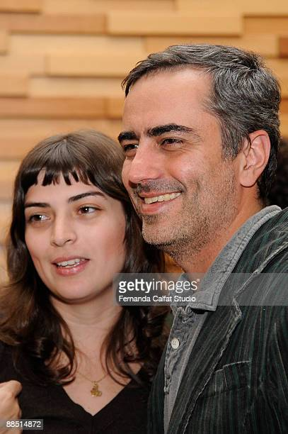 Movie director Heitor Dalia and Vera Egito attend at the TopModels A Brazilian Fairy Tale premiere at Iguatemi's Cinemark on June 15 2009 in Sao...