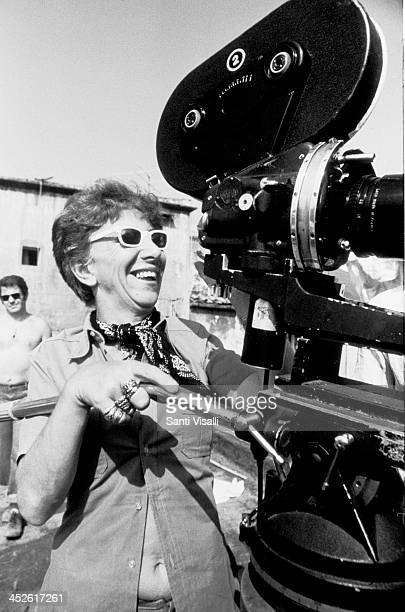 Movie Director Lina Wertmuller on the set of Pasqualino on August 1 1975 in Naples Italy