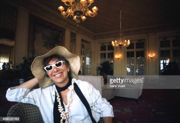Movie Director Lina Wertmuller posing for a portrait August 15 1975 in Naples Italy