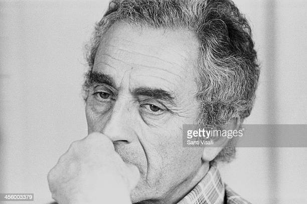 Movie Director Michelangelo Antonioni during an interview on April 4 1975 in New York New York
