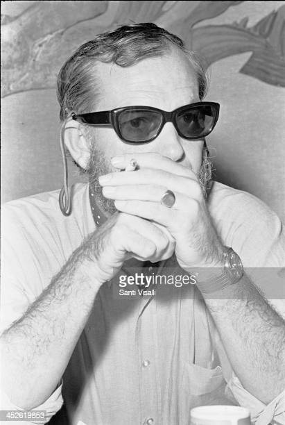 Movie Director Sam Peckinpah at a press conference on May 6 1969 in Hamilton Bermuda