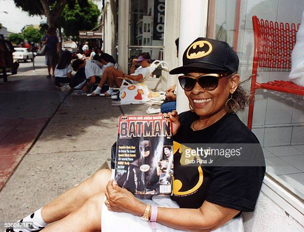 Movie fans line up to attend the Batman movie premiere on June 19 1989 in Westwood section of Los Angeles California