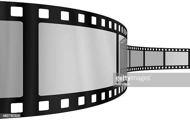Movie film blank frames