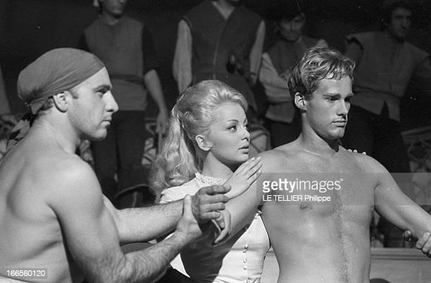 Movie 'Fils Du Capitaine Blood' By Tulio Demicheli. Etats-Unis, le 12 décembre 1961, tournage du film 'Le fils du Capitaine Blood' du réalisateur...