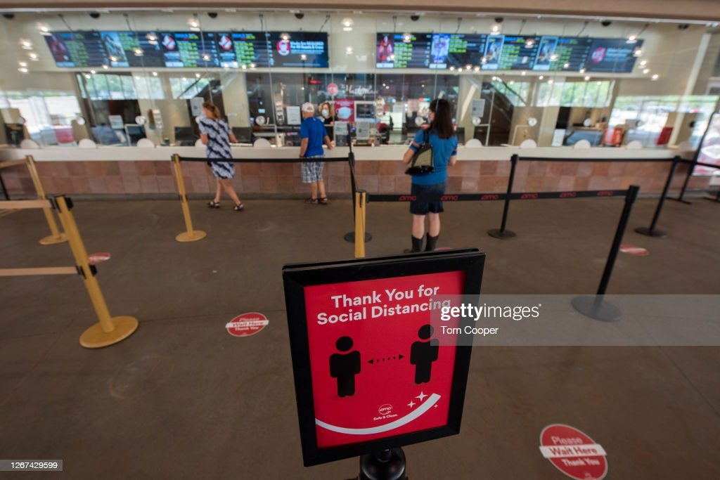 """AMC Theatres Reopens Its Doors By Celebrating 100 Years Of Operations With """"Movies In 2020 At 1920 Prices"""" : News Photo"""