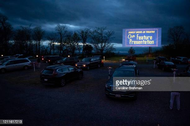 A movie is shown at the Family DriveIn Theatre in Virginia on Friday May 1 2020
