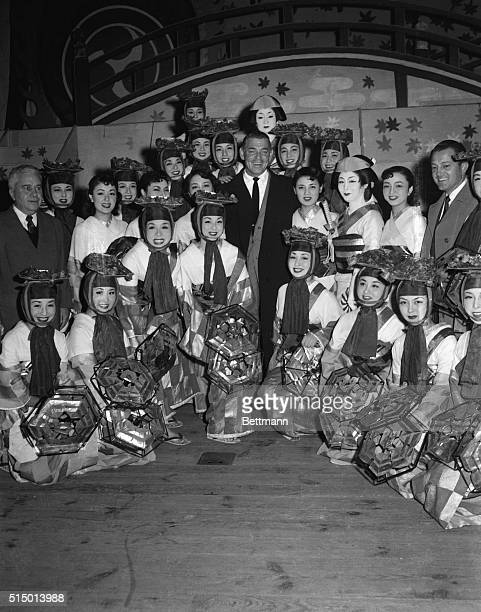Movie king Clark Gable in Tokyo for a short visit before going to Hong Kong for location shots in his new picture Soldier of Fortune is the center of...