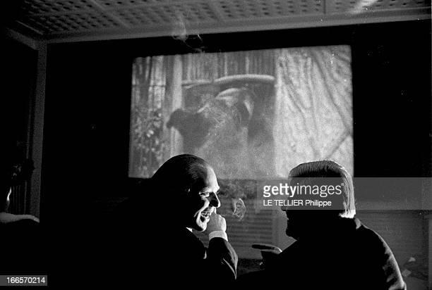 Movie 'L'Ours' By Edmond Sechan France le 22 novembre 1960 projection du film 'L'Ours' d'Edmond SECHAN en présence du réalisateur et du comédien...