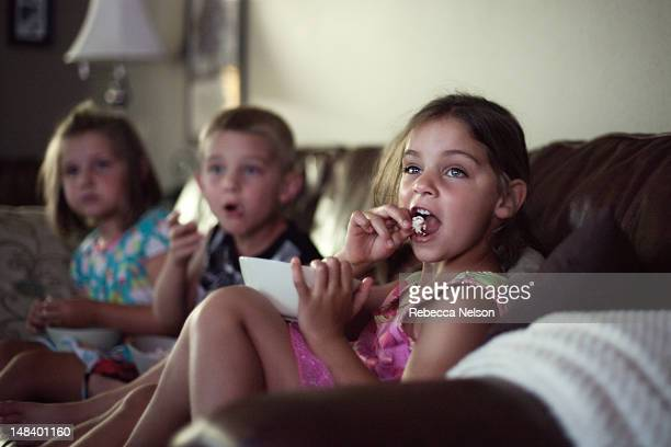 movie night - children only stock pictures, royalty-free photos & images
