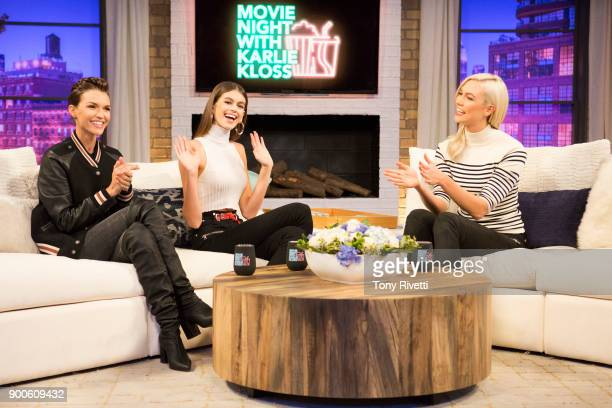 SPECIALS 'Movie Night with Karlie Kloss DisneyPixars Finding Nemo' Supermodel Karlie Kloss sits down with friends Ruby Rose and Kaia Gerber to watch...