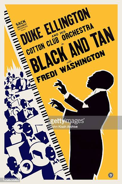 Movie poster advertises 'Black And Tan' starring Duke Ellington and his Cotton Club Orchestra 1929 Also featured are Fredi Washington and the Hall...