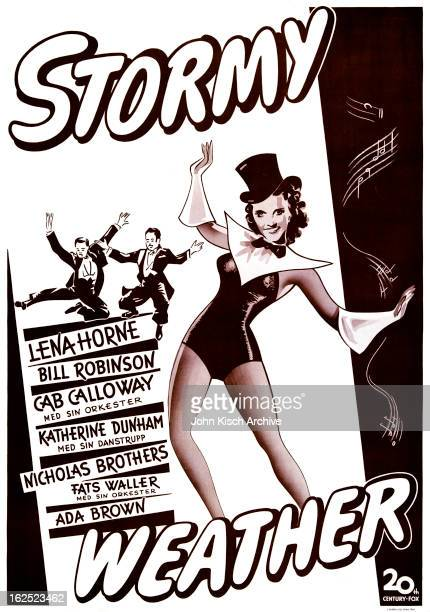 Movie poster advertises the Swedish release of the all black cast musical 'Stormy Weather' starring Lena Horne Bill 'Bojangles' Robinson Cab Calloway...
