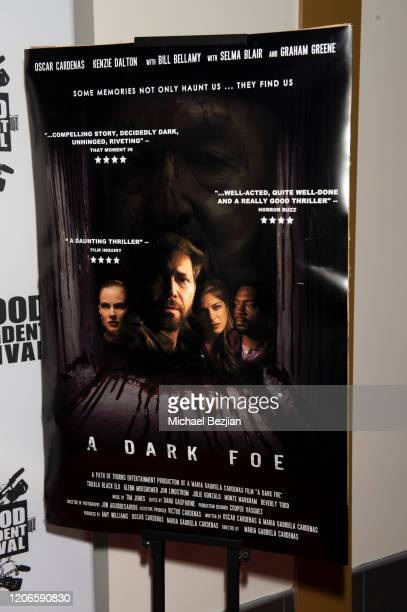 Movie poster as seen at A Dark Foe Film Premiere on February 15 2020 in Los Angeles California