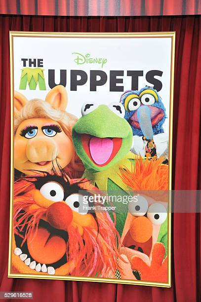Movie poster at the world premiere of 'The Muppets' held at the El Capitan Theater in Hollywood