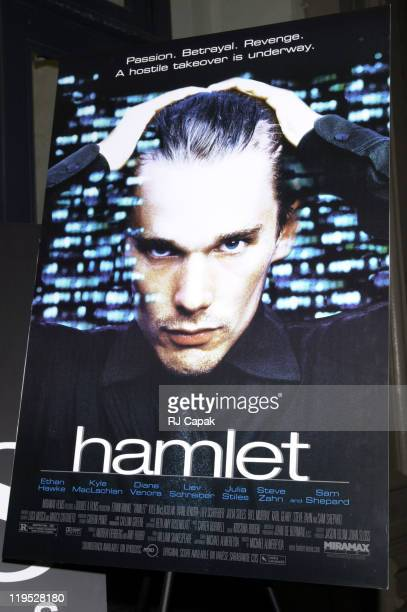 Movie Poster during Hamlet Premiere in New York City at Tribeca Screening Room in New York City New York United States