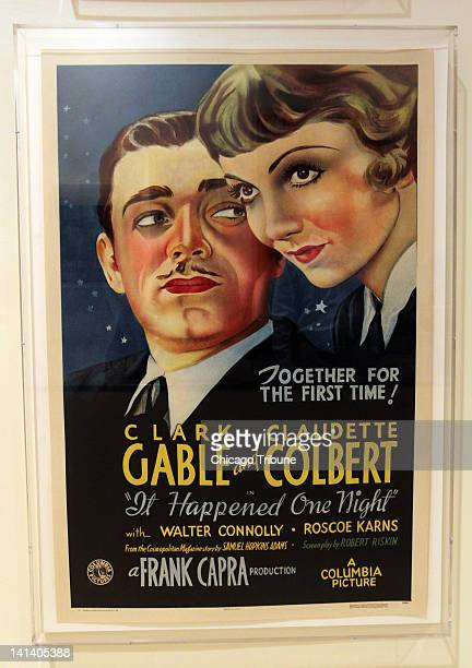 A movie poster for It Happened One Night starring Clark Gable is displayed at the home of collector Dwight Cleveland in Chicago Illinois March 6 2012