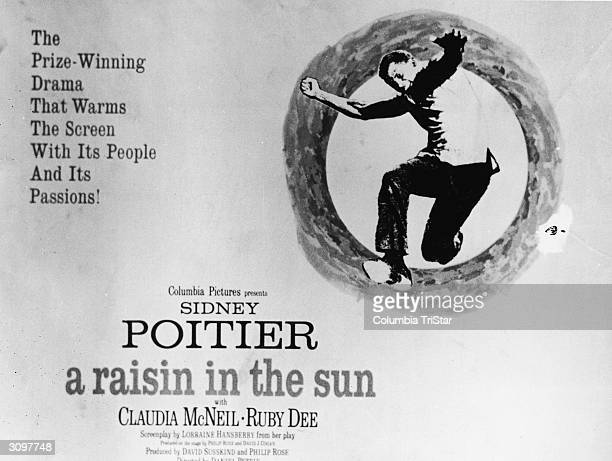 Movie poster for the film version of Lorraine Hansberry's 'A Raisin in the Sun' directed by Daniel Petrie 1961 The text reads 'The prizewinning drama...