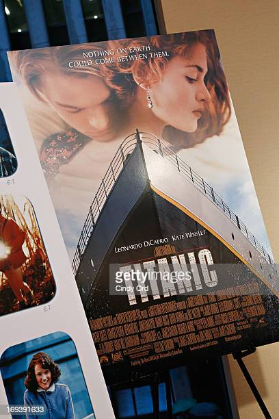 A movie poster from the movie 'Titanic' on display at the 2013 NYWIFT Designing Women Awards at The McGrawHill Building on May 23 2013 in New York...