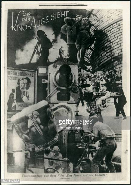 Movie poster Man with a Movie Camera 1929 Private Collection
