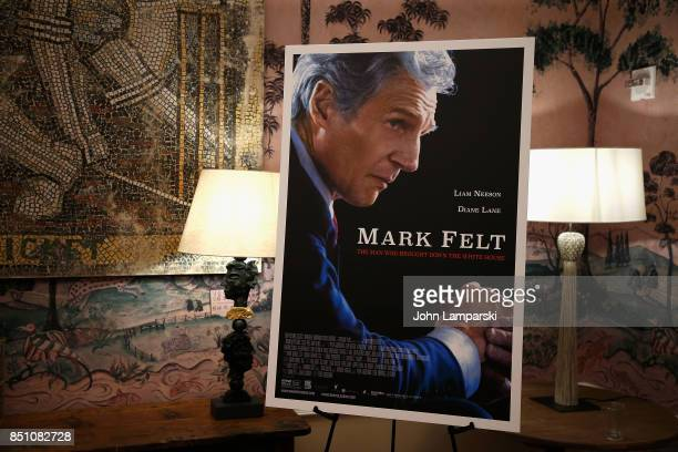 Movie poster on display during the 'Mark Felt The Man Who Brought Down The White House' New York premiere at the Whitby Hotel on September 21 2017 in...