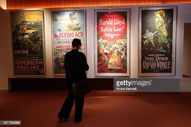 Movie posters are displayed at The Academy of Motion Picture Arts Sciences Pickford Center for Motion Picture Study in Hollywood September 10 2012 in...