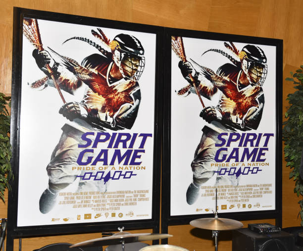 Movie Posters At The Premiere Spirit Game Pride Of A Nation On May