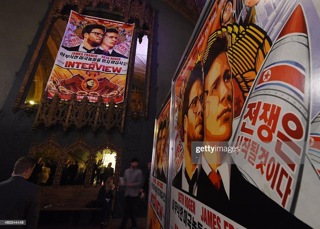 ENTERTAINMENT-US-NKOREA-FILM-THE INTERVIEW : News Photo