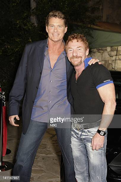 KNIGHT RIDER Movie Premiere Party Pictured Actors David Hasselhoff and Danny Bonaduce attend the Knight Rider premiere party held at the Playboy...