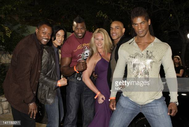 KNIGHT RIDER Movie Premiere Party Pictured Actors Kevin Dunigan Jack Yang Jesse Smith Robin Coleman Tanoai Reed and Romeo Williams attend the Knight...