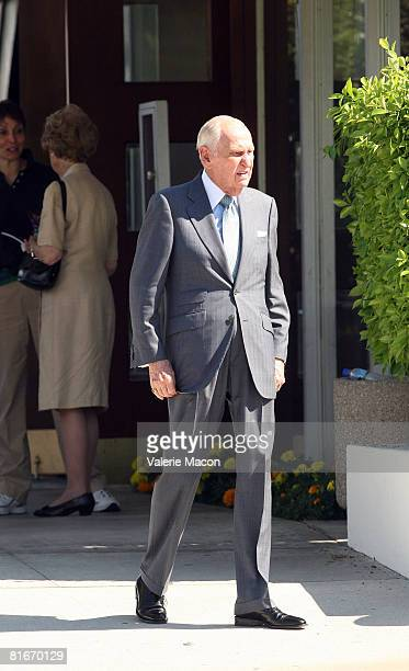 Movie Producer AC Lyles leaves Cyd Charisse's Funeral at the Hillside Memorial Park June 22 2008 in Los Angeles California