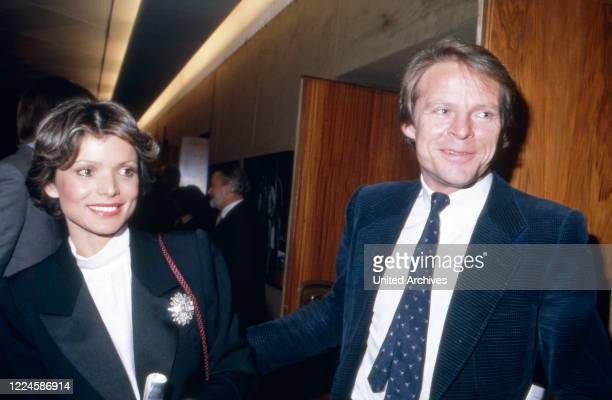 Movie producer Bernd Tewaag with actress Uschi Glas, Germany, 1980s.