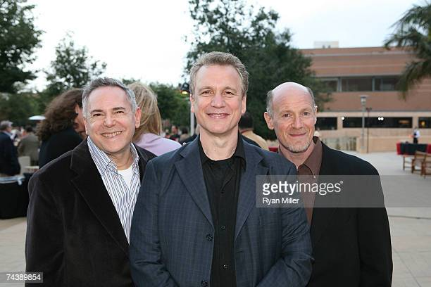 Movie Producer Craig Zadan Writer of the 'Jersey Boys' Book Rick Ellis and Movie Producer Neil Meron pose during the opening night party for 'Jersey...
