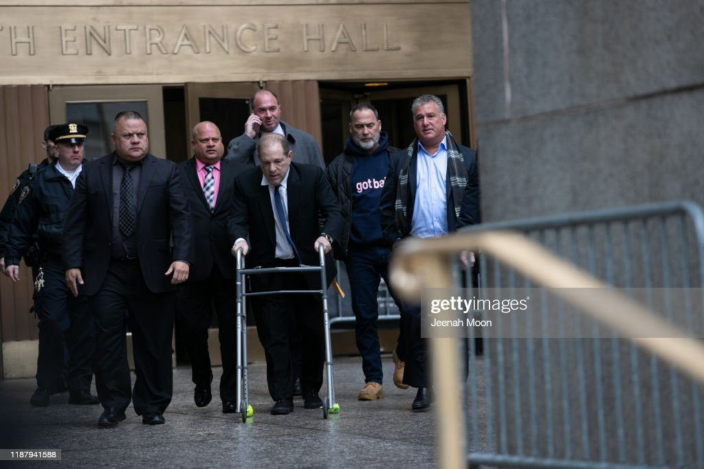 Harvey Weinstein Returns To Court For A Bailing Hearing : News Photo