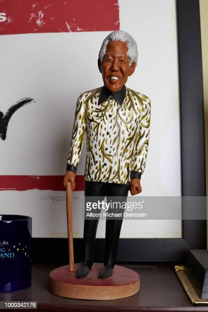 Movie producer Harvey Weinstein's office is photographed for The Hollywood Reporter on March 27 2017 in New York City Nelson Mandela figure PUBLISHED...