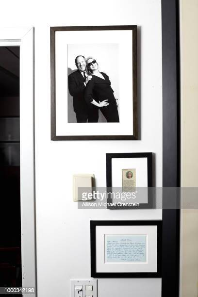 Movie producer Harvey Weinstein's office is photographed for The Hollywood Reporter on March 27 2017 in New York City Photo of Weinstein with actress...