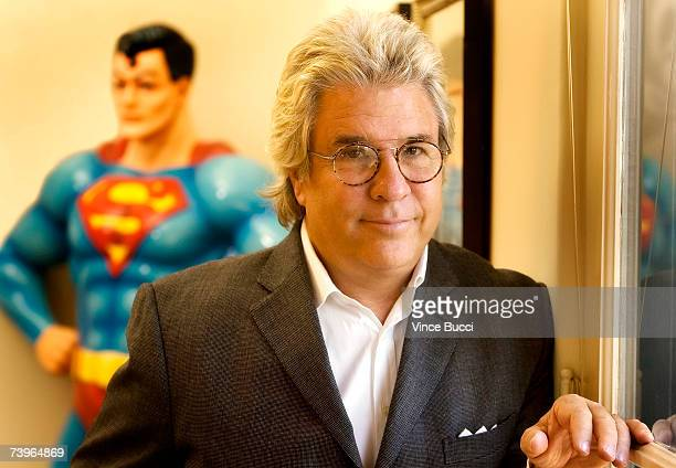Movie producer Jon Peters poses for a portrait at his home on April 24, 2007 in Beverly Hills, California.