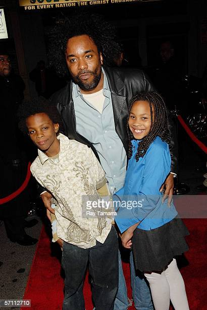 """Movie producer Lee Daniels and his children Niam and Clara attend the premiere of Steve Harvey's """"Don't Trip...He Ain't Through With Me Yet"""" at the..."""