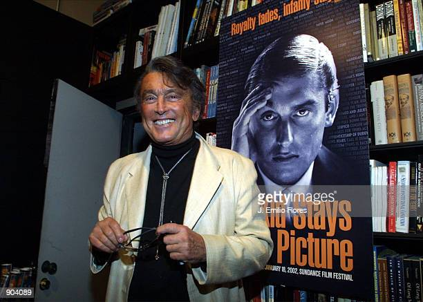 Movie producer Robert Evans attends a book signing for his memoir The Kids Stays in the Picture at a book store March 6 2002 in West Hollywood CA