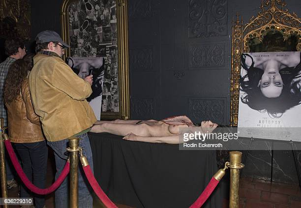 Movie prop at screening of The Autopsy of Jane Doe at Ace Hotel on December 19 2016 in Los Angeles California