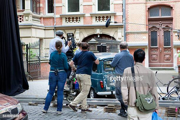 Movie set on a street in Wiesbaden