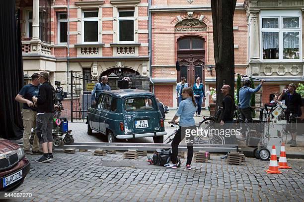Film auf einer Straße in Wiesbaden