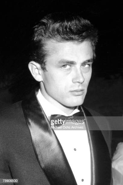 Movie star James Dean attends the Premiere of Sabrina on September 22 1954 in Los Angeles California
