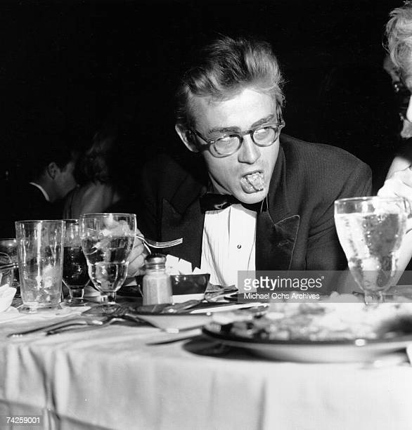Movie star James Dean attends the Thalian Ball on August 29 1955 at Ciro's nightclub in Los Angeles California Dean died one month later