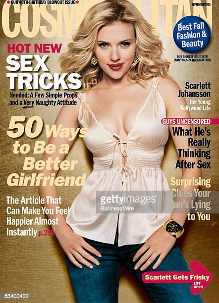 Movie star Scarlett Johansson helps celebrate Cosmopolitan's 40th birthday issue by apperaring on the September cover She dishes with Cosmo about...