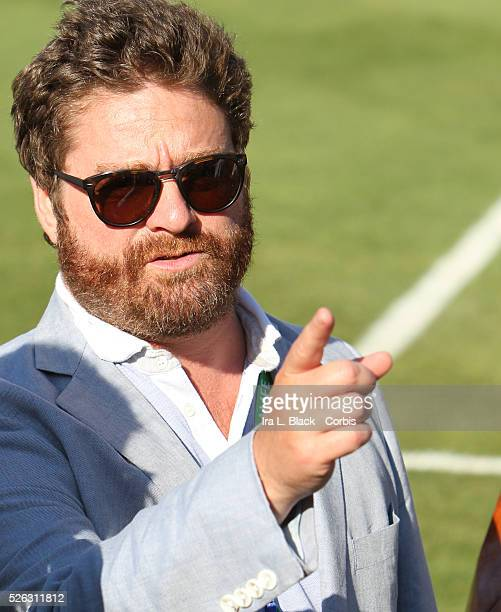 Movie Star Zach Galifianakis prior to the Herbalife World Football Challenge Friendly match between LA Galaxy and Real Madrid Real Madrid won the...