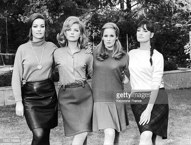 Movie Stars Claudine Auger Virna Lisi Ursula Andress And Marisa Mell