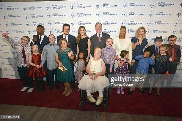 Movie stars Jamie Foxx Matt Dillon Hilary Swank John C McGinley Queen Latifah and Fashion Model Amanda Booth came out to raise money for Down...