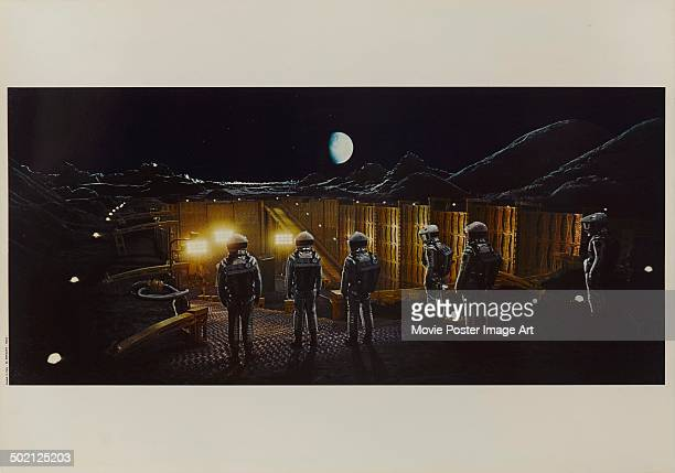 A movie still from Stanley Kubrick's 1968 science fiction film '2001 A Space Odyssey'