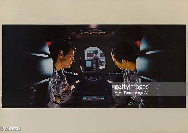 A movie still from Stanley Kubrick's 1968 science fiction film '2001 A Space Odyssey' starring Gary Lockwood and Keir Dullea