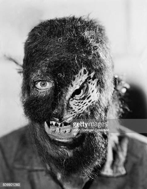 Movie still from the 1933 Paramount creature film The Island of Lost Souls This head and shoulders photo shows one of the horrible makeups used by a...